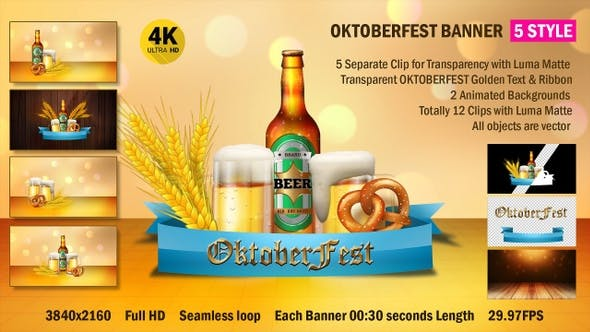 Thumbnail for OktoberFest Banner 4k
