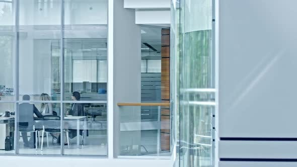Thumbnail for Business Partners on Meeting in Office with Glass Walls