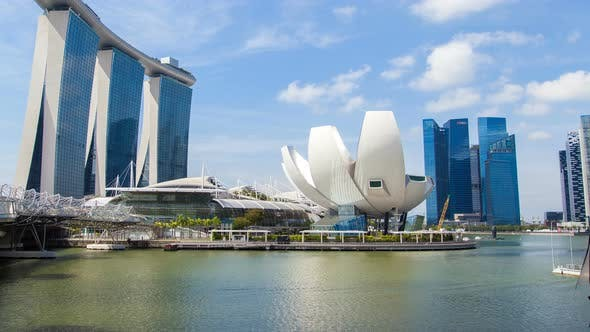 Thumbnail for Singapore Cityscape on a Clear Sunny Day Time-lapse