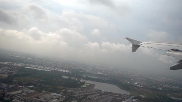 Thumbnail for Airplane Takes Off During the Rain