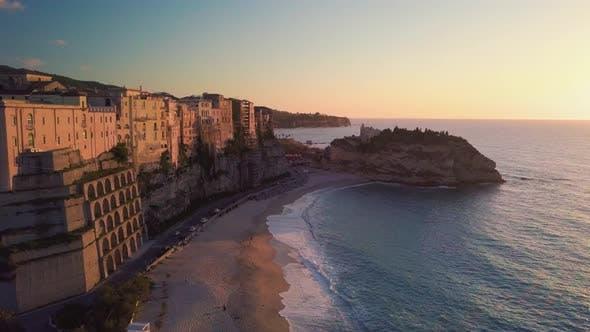 The beach of the Italian City