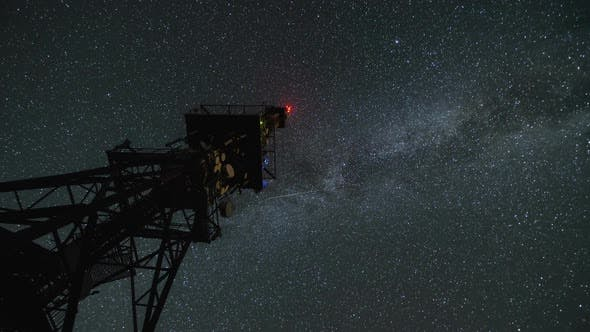 Thumbnail for Milky Way over Communication Tower