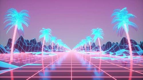 Futuristische Retro-Animation