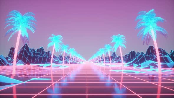 Retro Futuristic Animation