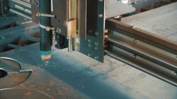 Thumbnail for Laser Cutter Cuts Metal Parts