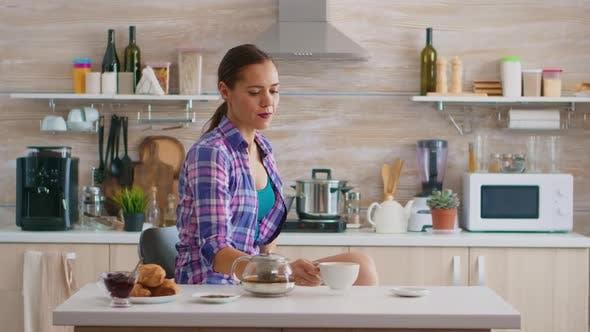 Drinking Tea in the Kitchen