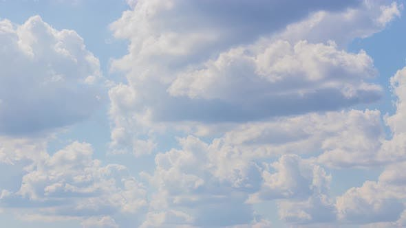 Thumbnail for Timelapse of White Clouds Background