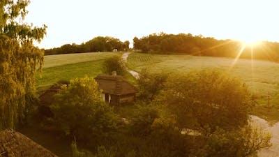 Rural Landscape with Sunset