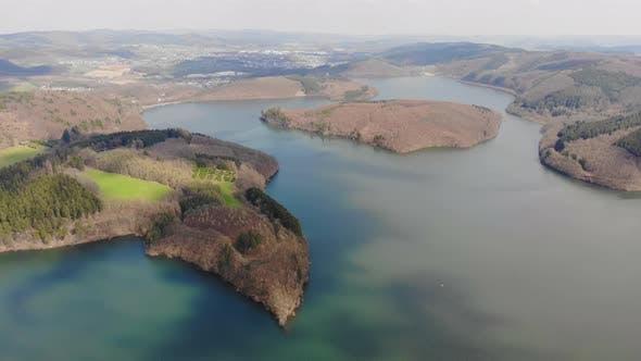 Thumbnail for Flight Over Lake at Spring