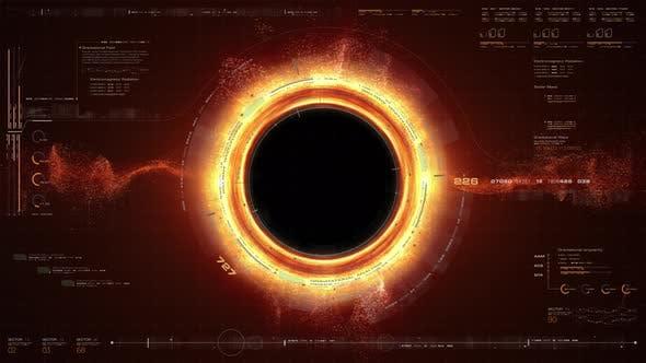 Thumbnail for Futuristic Black Hole Simulation HUD