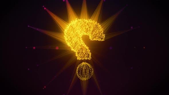 Thumbnail for Question Mark Symbol Hologram 3d