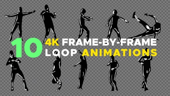 Frame-by-frame looping dancers