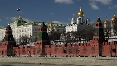 View On Moscow Kremlin And President Palace