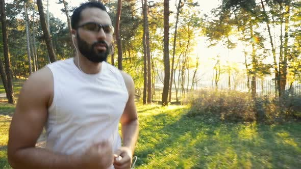 Thumbnail for Man Goes Jogging in Park