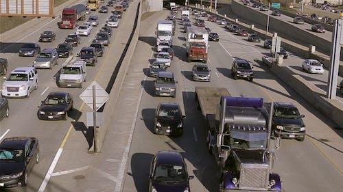 Highway Traffic Jam Overhead