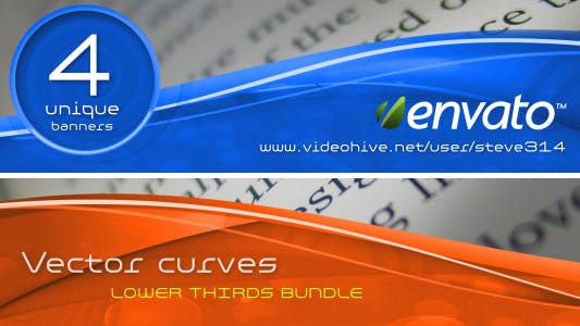 Thumbnail for Vector Curves - lower thirds bundle
