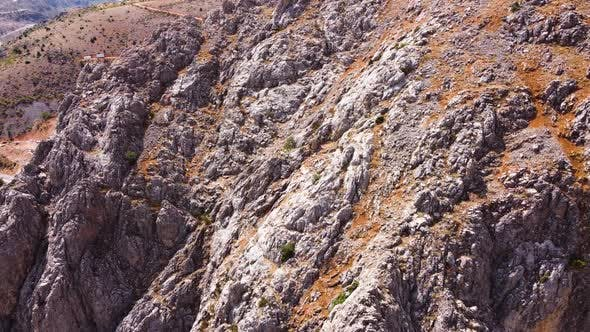 Huge Steep Cliffs Canyon in the Euphrates River Delta Dramatic Geological Wonder in Turkey