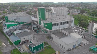 Factory Building Aerial