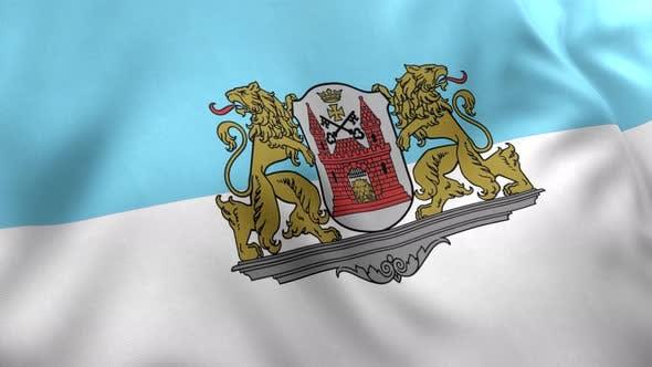 Riga City Flag (Latvia) - 4K