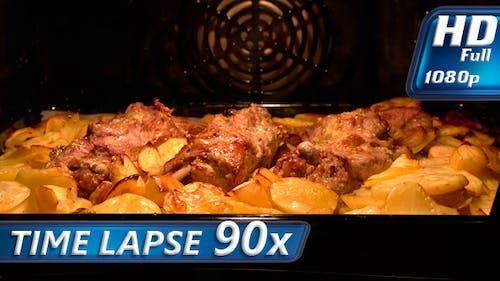 Fleischgericht im Ofen