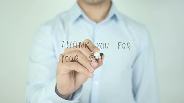 Thumbnail for Thank You for Your Support, Writing On Screen