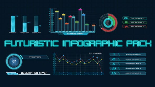 Thumbnail for Futuristic Infographic Pack