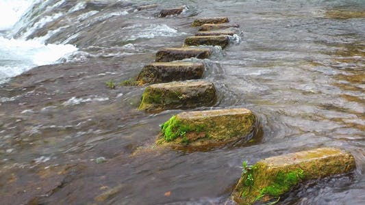 Thumbnail for Stone Steps In The Waterfall