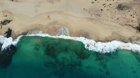 Thumbnail for Beautiful Clean Beach on Island of Lanzarote, Aerial View