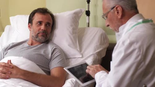 Sick Man Happy To Hear Good News From Doctor