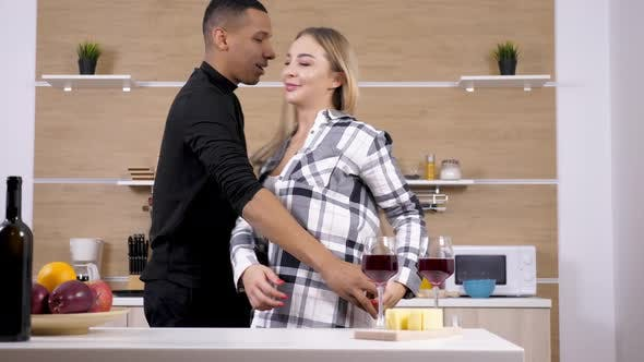 Thumbnail for Happy Inlove Interracial Couple Dancing Sensualy