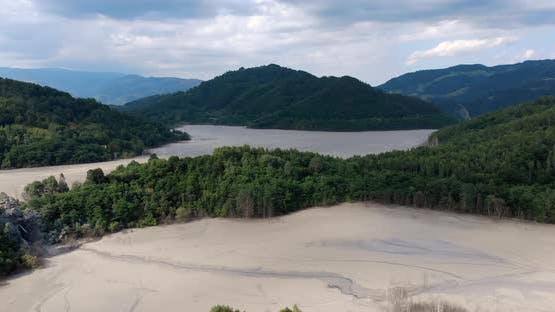 Natural Disaster Geamana Village Romania Apuseni Mountains