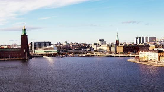 Stockholm Old City Cityscape Timelapse
