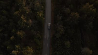 Drone View Of Car Journey