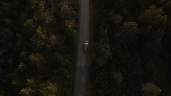 Thumbnail for Drone View Of Car Journey