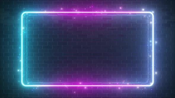 Thumbnail for Rectangular Neon Sparkling Luminous Shape
