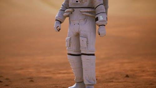 Astronaut on Mars Surface