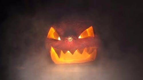 Halloween Pumpkin and Smoke