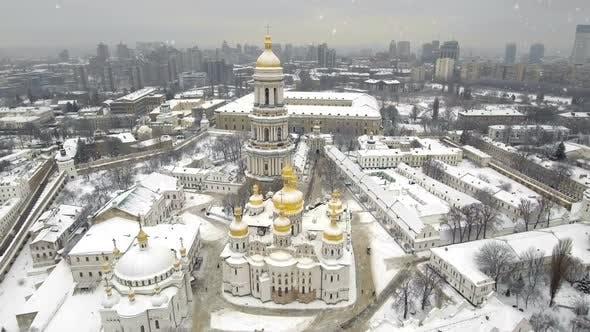 Thumbnail for Kiev-Pechersk Lavra in Falling Snow in a Winter