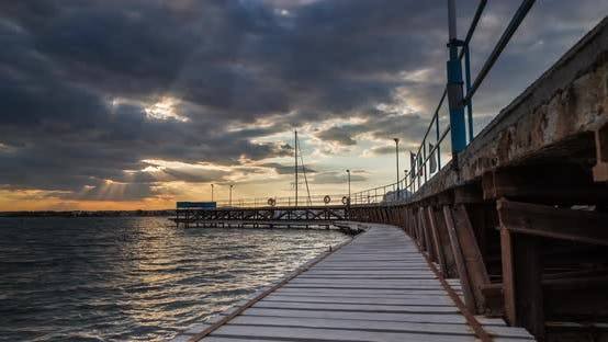 Thumbnail for Beautiful Sunset Over The Fishing Pier