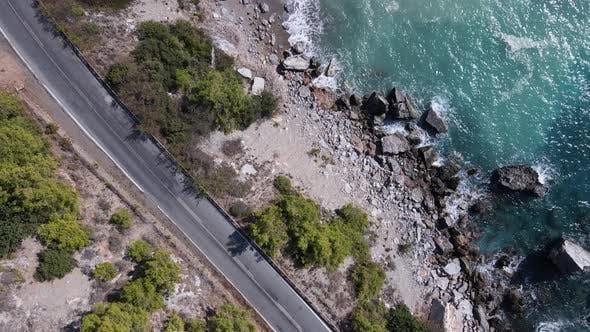 Shore of the Mediterranean Sea: Turkey Mountain Coastline
