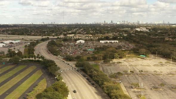 Covid 19 Coronavirus Testing And Vaccine Sites Miami Aerial Footage