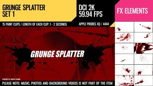 Thumbnail for Grunge Splatter (2K Set 1)