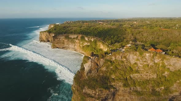 Thumbnail for Rocky Coastline on the Island of Bali, Aerial View