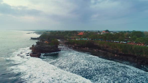 Thumbnail for Aerial View of the Rocky Coast of the Ocean