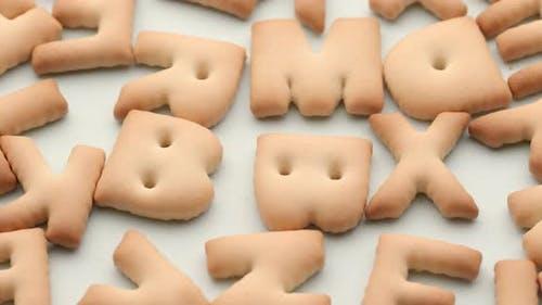 Stapel von Charakter-Cookies