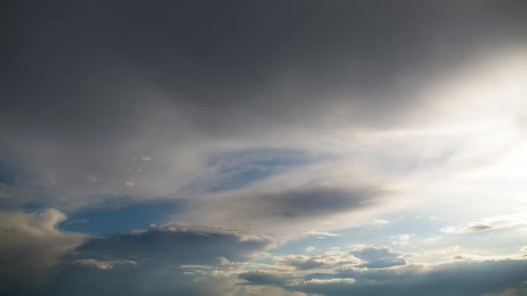Thumbnail for Clouds Move Smoothly in the Blue Sky. Timelapse. Cloud Space.