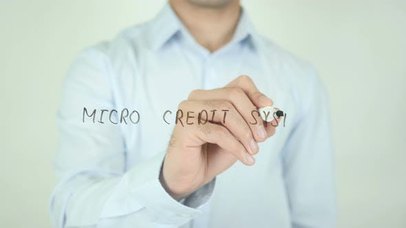 Thumbnail for Micro Credit System, Writing On Screen