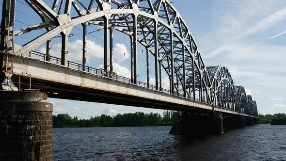 Cover Image for Railway Bridge in Riga Latvia
