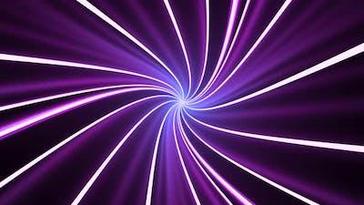 Purple twist cubes with black background