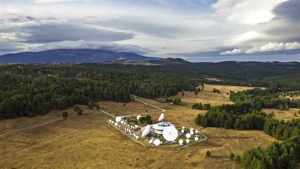 Thumbnail for Satellite Antenna Station In The Heart Of The Mountains